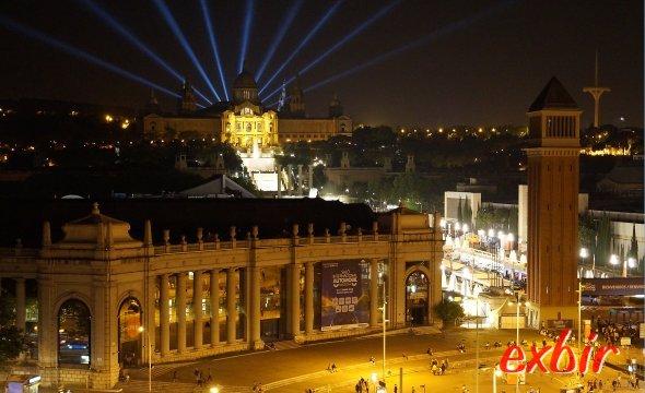 Aussicht auf den Placa Espana, Fonta Magica und den Montjuc.  Foto; Christian Maskos