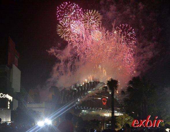 Silvester in Sydney 2012/13: Ein Wahnsinns Feuerwerk.Foto: Christian Maskos