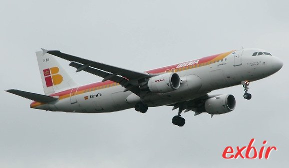 Ein Airbus A320 von Iberia.  Foto: Christian Maskos