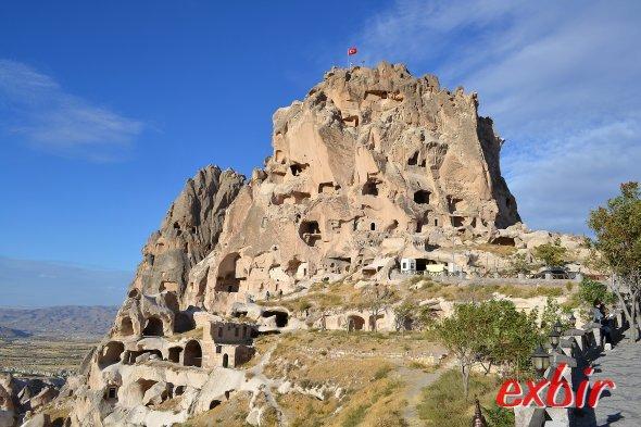 Burg Uchisar inKapadokkien. Foto:Christian Maskos