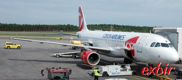 Ein Airbus A 320 von Czech Airlines.  Foto: Maskos