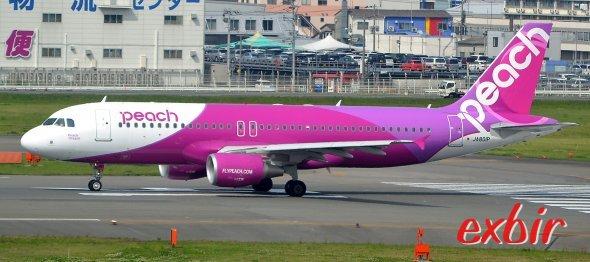 Peach Aviation bietet billige Inlandsflüge in Japan an.  Foto: Christian Maskos