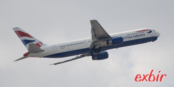 British Airways stezt im an sich nachfrageschwächeren Winter sogar mehrmal täglich Großraumjets auf Inlandsflüen ein.  Foto: Christian Maskos
