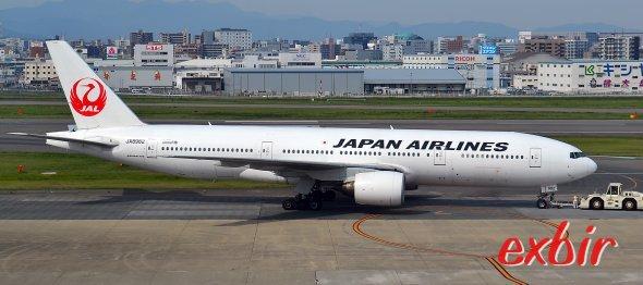 Eine Boeing 767-300 von Japan Airlines.  Foto: Christian Maskos