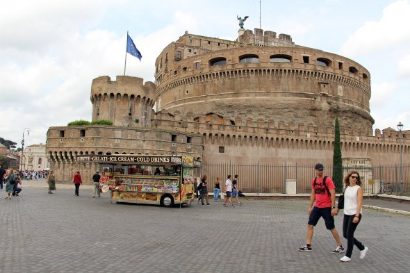 Roma - Castel Sant'Angelo, The Mausoleum of Hadrian,Italien