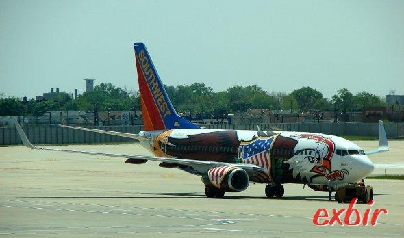 Eine Boeing 737 von Southwest.  Foto: Christian Maskos