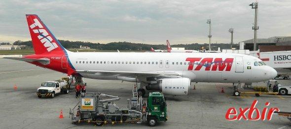 Ein Airbus A 320 von TAM.  Foto: Christian Maskos