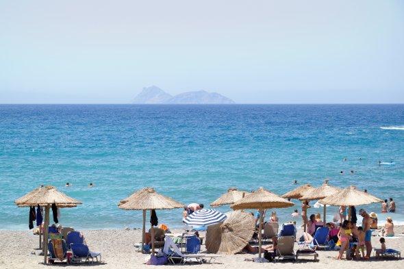 Strandleben auf Kreta.