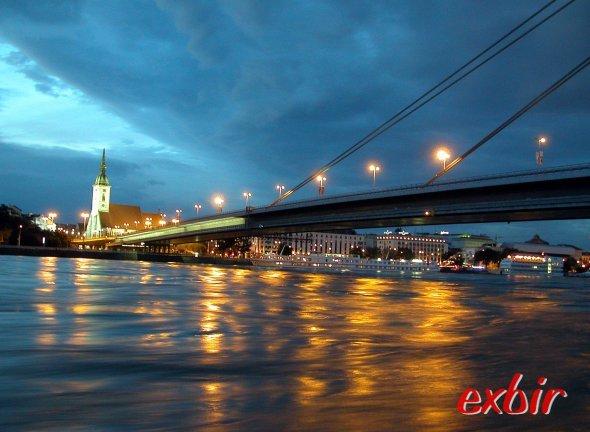 Uferansicht in Bratislava. Foto: Christian Maskos