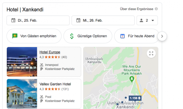 Hotels in Stepanakert