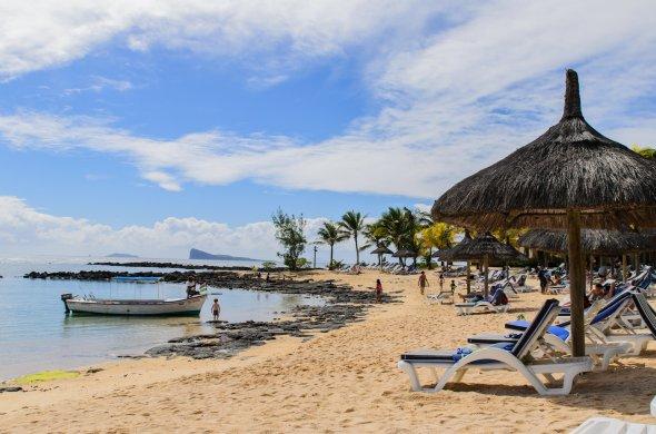 Canonnier Hotel Strandbereich auf Mauritius