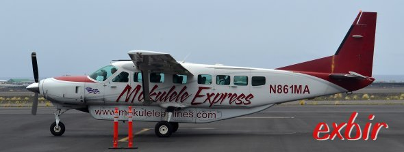 Mokulele Express bietet billige Flüge auf Hawaii an.  Foto: Christian Maskos