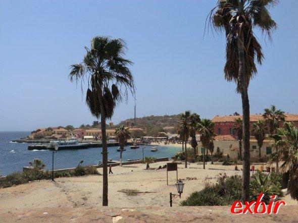 Die Insel Goree vor den Küsten des Senegal