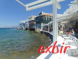 Wonderfull view in Chora (Mykonos town) to the old venezian part.  photo: Maskos
