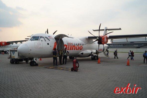 Eine ATR 72 von malindo Air in Subang.  FotO Christian Maskos
