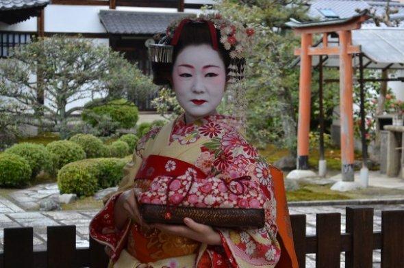 Eine Geisha  in Kyoto.