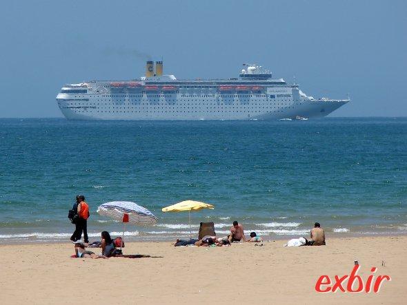 Strand von Agadir.  Foto: Christian Maskos