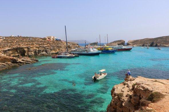 Blaue Laguna auf Comino, Malta