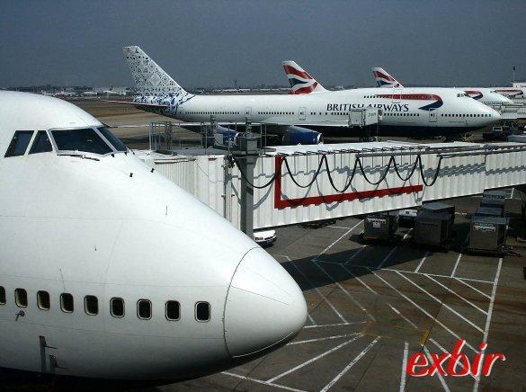 Boeing 747-400 Flotte von British Airways in London-Heathrow. Foto: Christian Maskos