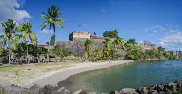 Am Plage de Francaise auf Martinique.