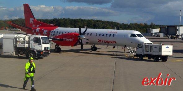 Mit OLT Express wurde bereits ein Unternehmen durch die Luftverkehrssteuer in die Pleite getrieben.  Foto: Christian Maskos