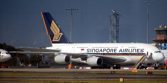 Ein Airbus A380 von Singapore Airlines.