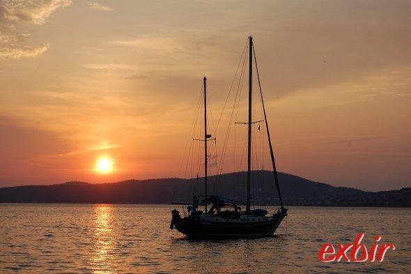 Sonnenuntergang im türkischen Ayvalik Anfang Juni 2011. Foto: Christian Maskos