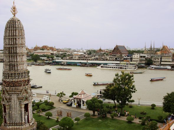 View from the central prang - Wat Arun, Bangkok