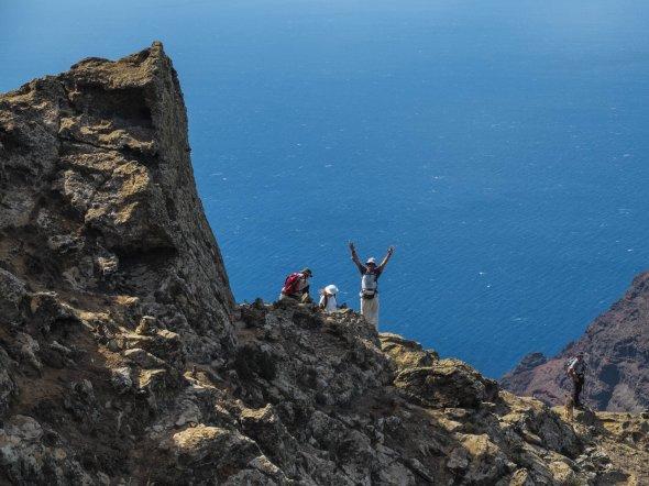 Wanderer auf Gran Canaria. Urheber: Zatapundi, Lizenz: creative commons (Namensnennung, Weitergabe unter gleichen Bedingungen)