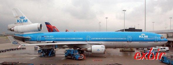Eine MD 11 von KLM in Shipol. Foto Maskos
