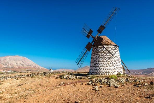 Eine der zahlreichen Windmühle auf Fuerteventura