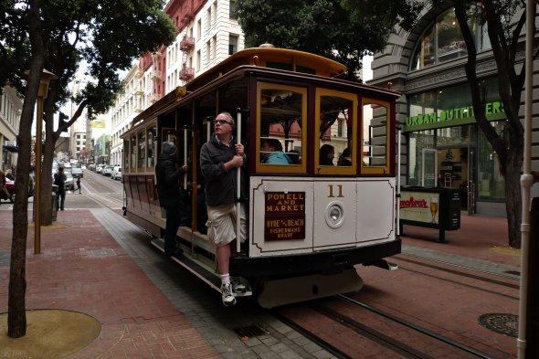 Eine der berühmtem Cable Cars in San Francisco