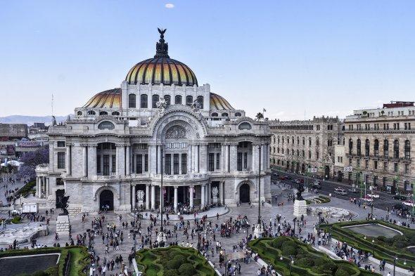 Der Palast der Schönen Künste in Mexiko-Stadt.