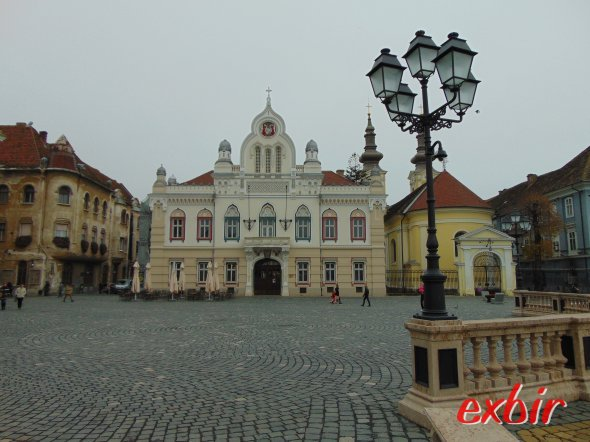 Der Hauptplatz von Timisoara - Piaza Uniri - ist extrem sehenswert.  Foto: Christian Maskos
