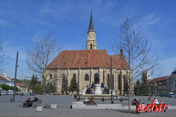 Piaza Uniri  mit in Cluj.  Foto: Christian Maskos