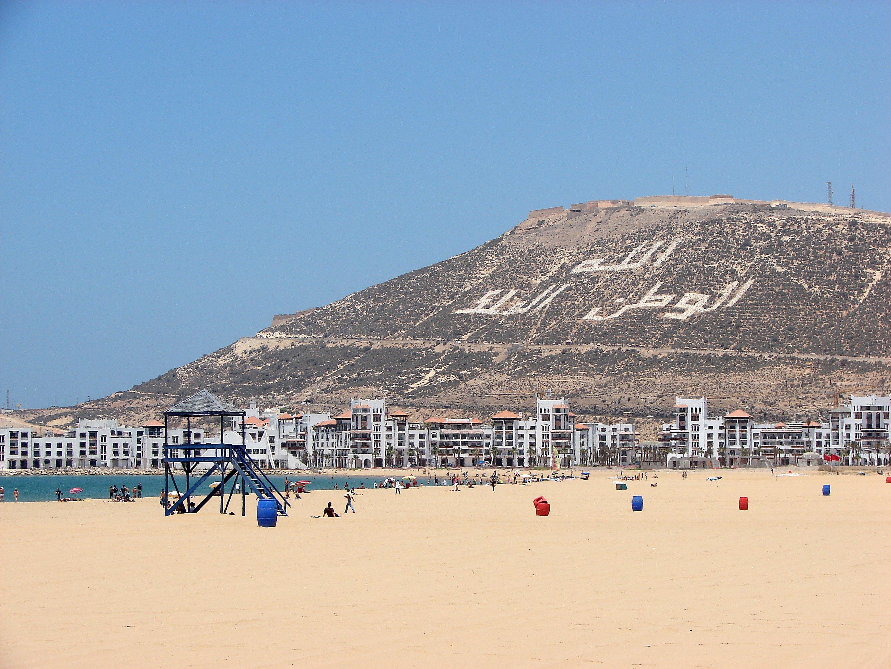 Am Strand von Agadir. Foto: Christian Maskos