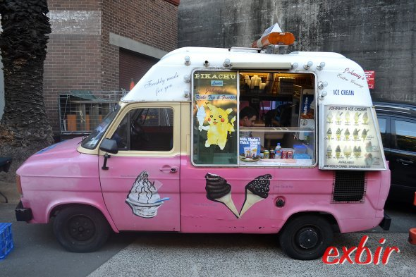 Silvester in Sydney: Ein Eiswagen in der Nähe der Partymeile.  Foto: Christian Maskos