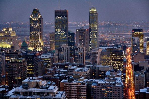 Montreal (Quebec) bei Nacht