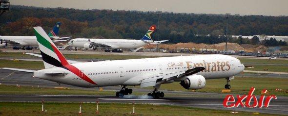 Emirates Flieger. Foto: Exbir Travel, C. Maskos