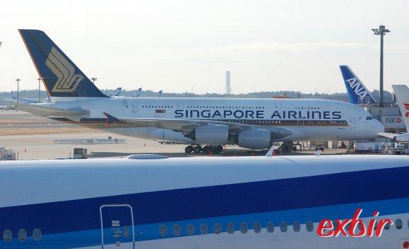 Mit dem Airbus A 380-800 von Singapore airlines geht es direkt von Frankfurt nach Singapore und dann mit Silk Air weiter nach Down Under.  Foto: Christian Maskos