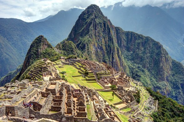 Machu Picchu,  9.7.2011, Inka-Ruinenstadt in den Anden, Peru, eines der 7 neuen Weltwunder