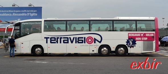 Neue Strecken ab London (Stansted) und Mailand (Bergamo) bei Terravision.  Foto: Christian Maskos