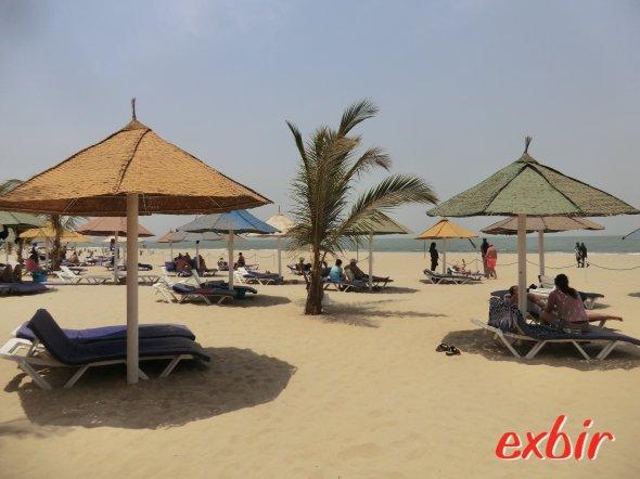 Der Strand des Laico Atlantic Hotels in Banjul. Foto: Wolfgang Hesseler