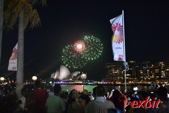 Blick vom Circular Quay auf das Opernhaus  beim Silvesterfeuerwerk. Foto:Christian Maskos