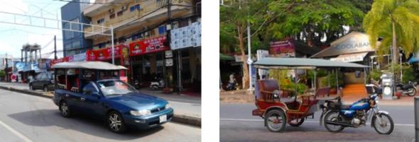 Bild 12, Sihanoukvilles schöne Strände, zu erreichen mit recht eigenartigen öffentlichen Verkehrsmitteln