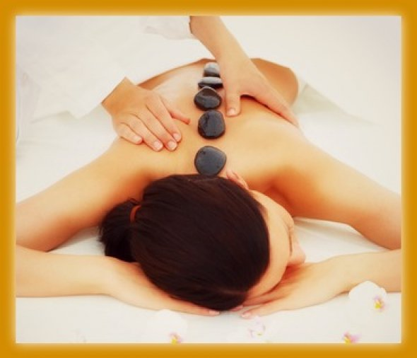 hotstone massage at spa