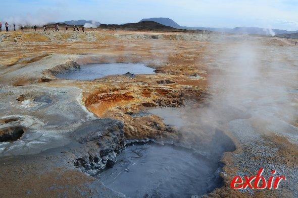 Heiße Quellen  auf Island.