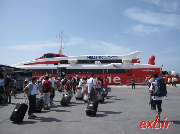 Hellenic Seaways Katamaran. Foto: FlyWolf
