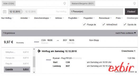 Meilen auf Ryanair Flügen sammeln.