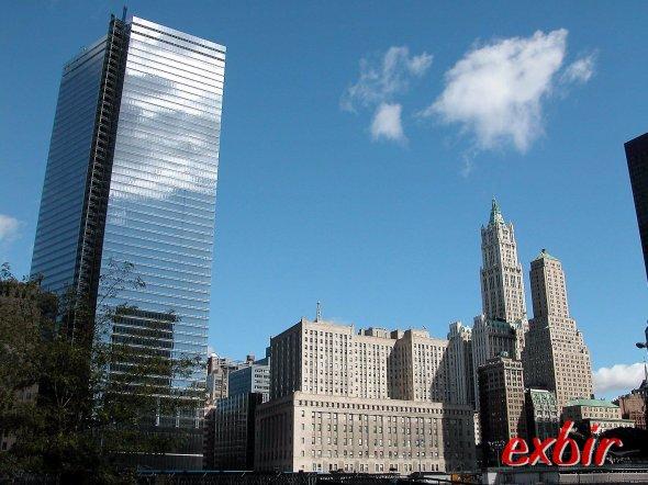 New York Citycenter.   Wolkenkratzer in Manhattan.  Foto. Christian Maskos